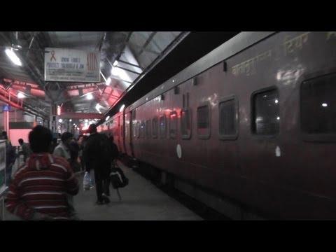 Halting at Badarpur - Agartala-Lumding Exp. (Feb. 28, 2013)