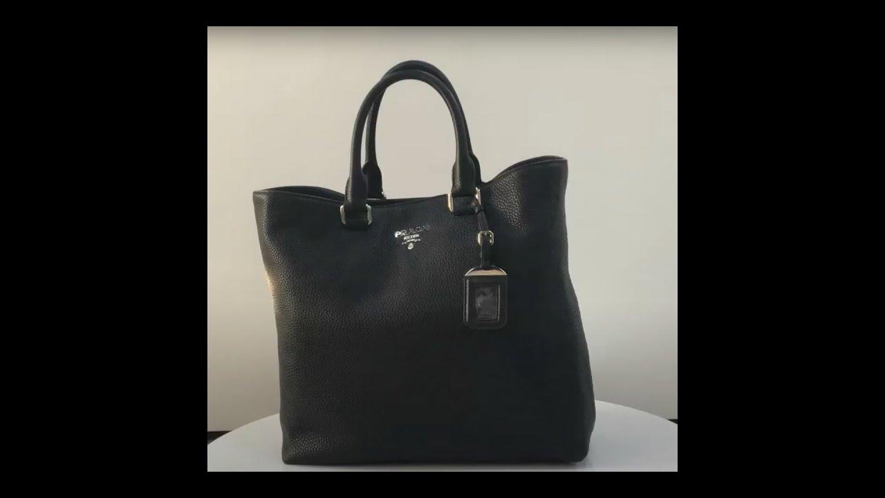 Prada Vit Diano Nero Black Leather Bag - YouTube f966c2dd62ebe