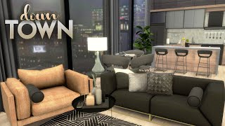 DOWNTOWN APARTMENT + CC LIST | The Sims 4 | CC Speed Build