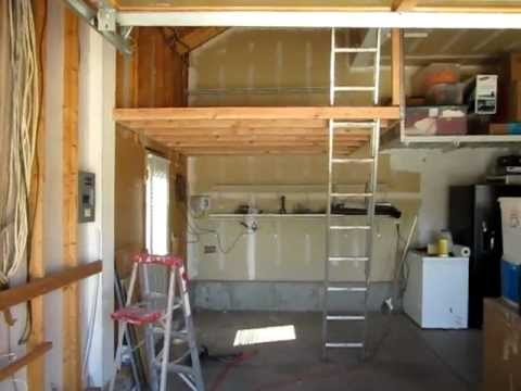 Garage storage space how to build garage storage space for Diy garage storage loft