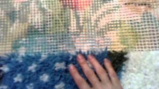 Работа в ковровой технике.