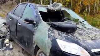 Раненый медведь разорвал машину охотника. ХМАО Пыть Ях ДНС Майская ЦППН 3 ЮНГ