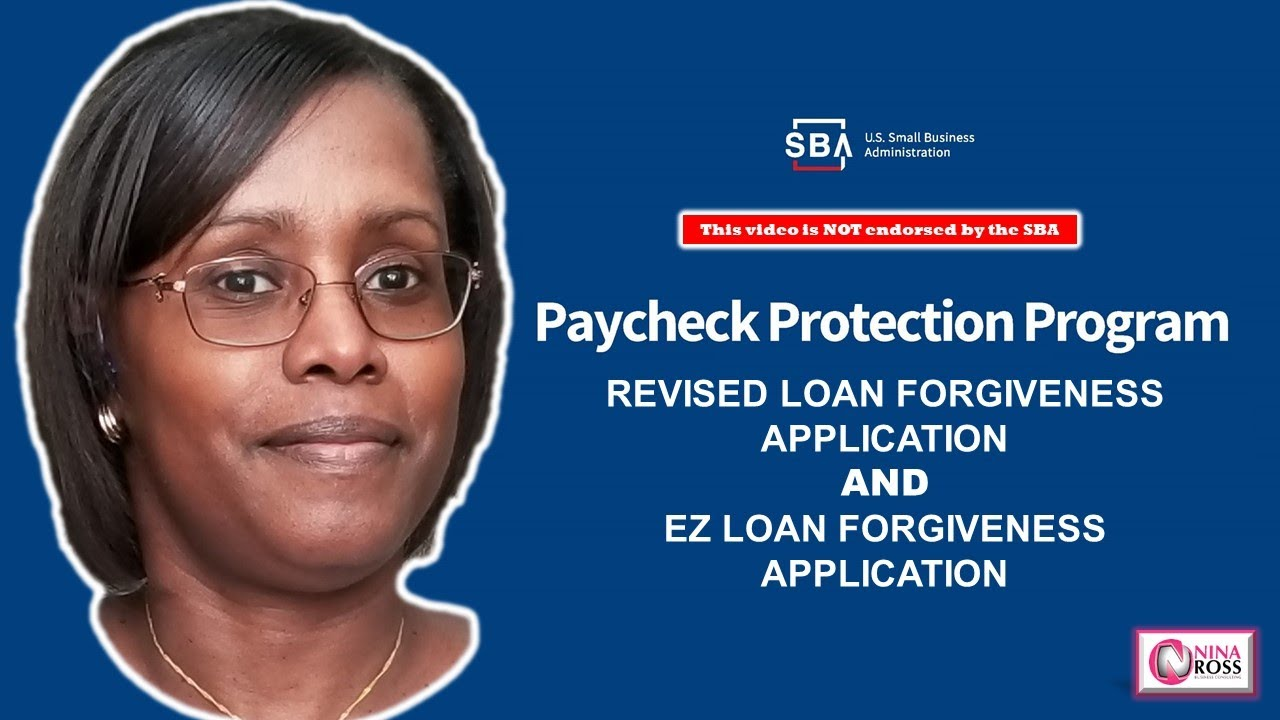 NEW! The New PPP EZ Loan Forgiveness Application - YouTube