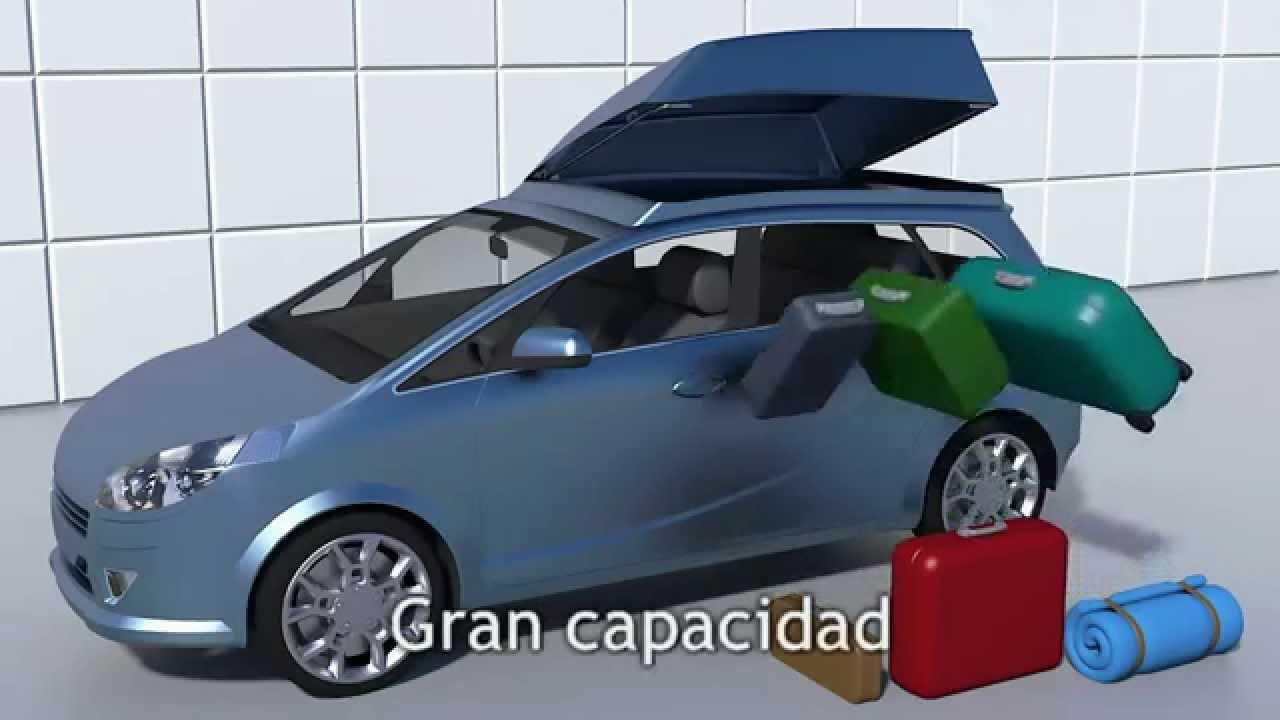 Cofre portaequipajes plegable youtube - Cofre techo coche ...
