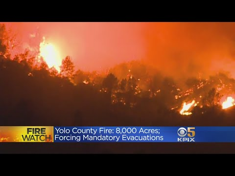 Fast-Moving Guinda Fire Burns 8,000 Acres In A Matter Of Hours