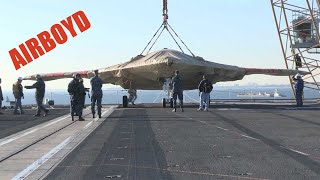 X-47B Loaded Onto USS Harry S. Truman (CVN-75)