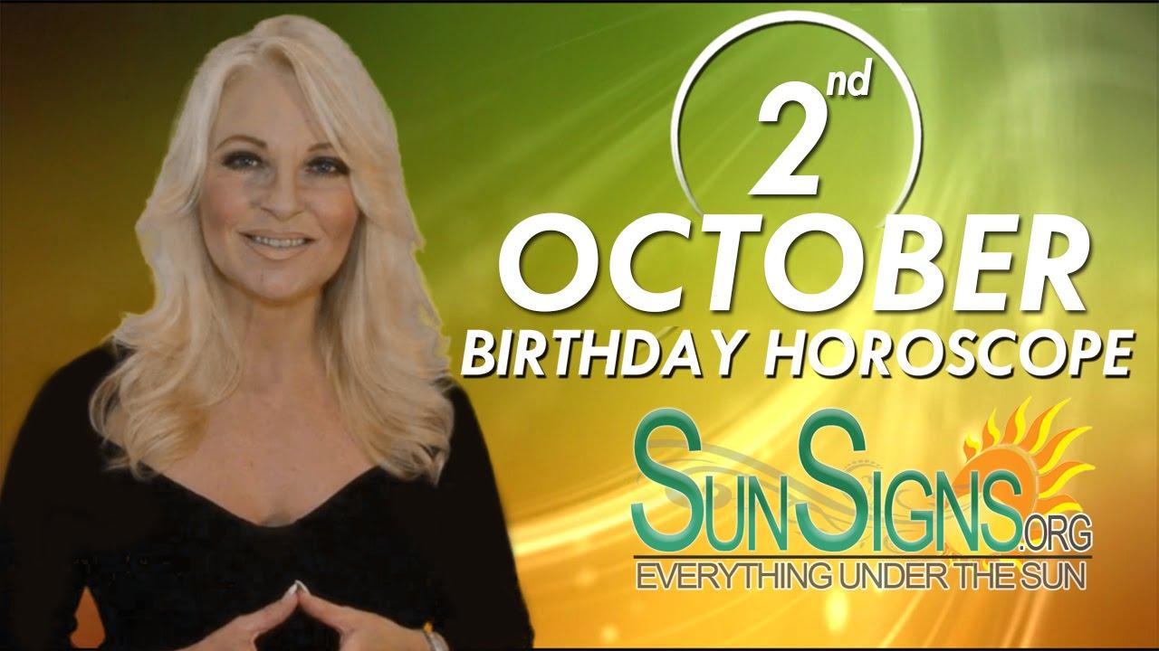 October 2nd Zodiac Horoscope Birthday Personality - Libra - Part 1