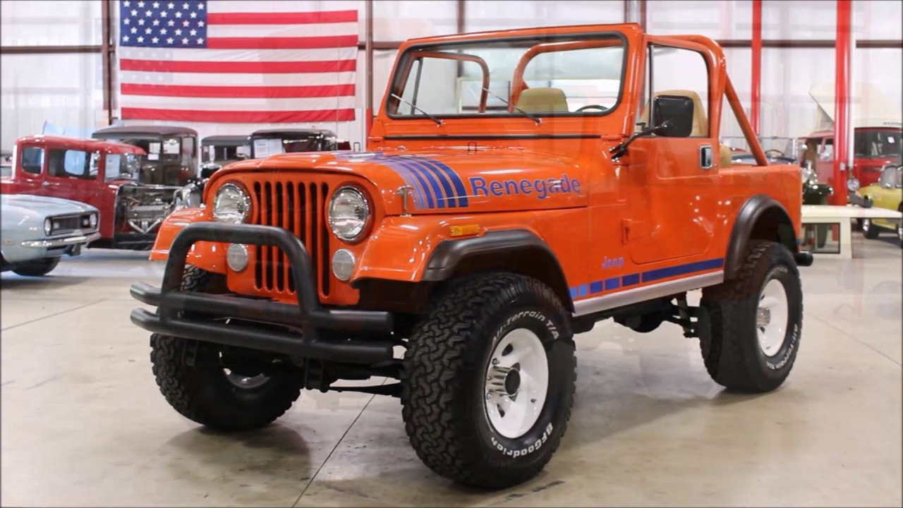 1984 jeep renegade orange youtube. Black Bedroom Furniture Sets. Home Design Ideas