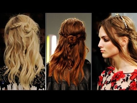 Top Hair Trends From New York Fashion Week Braids Ponytails And More Beauty Beat Youtube