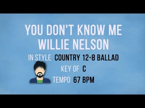 You Dont Know Me - Willie Nelson - Karaoke Male Backing Track