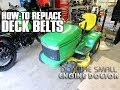 HOW-TO Replace Mowing Belts On A John Deere Lawn Tractor LX266