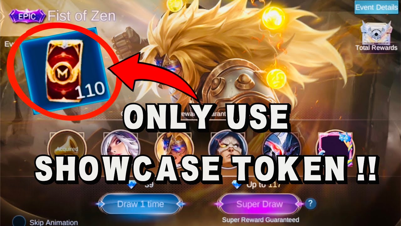 EPIC SHOWCASE EVENT USING SHOWCASE TOKEN (Badang Epic Skin Fist of Zen) - Mobile Legends Bang Bang