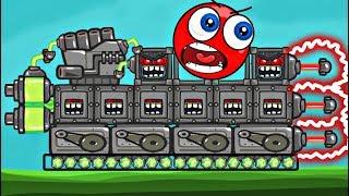 ПЕРЕВОЗИМ С ШАРИКОМ - 9999 КВАДРАТОВ В BAD PIGGIES в игре красный шарик для детей про New Red Ball 4