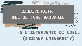 L'intervento di Gregory F.Udell (Indiana University)