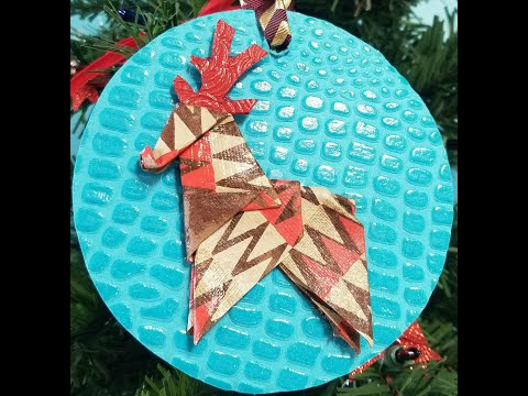 Make your own easy paper Reindeer Ornament