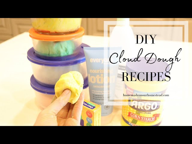 DIY CLOUD DOUGH | How to make cloud dough at home | Easy Cloud dough recipe with only 2 ingredients