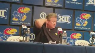 Bob Huggins talks after KU slips past WVU