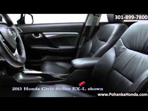 New 2013 Honda Civic Sedan Interior Washington DC MD Capitol Heights Pohanka