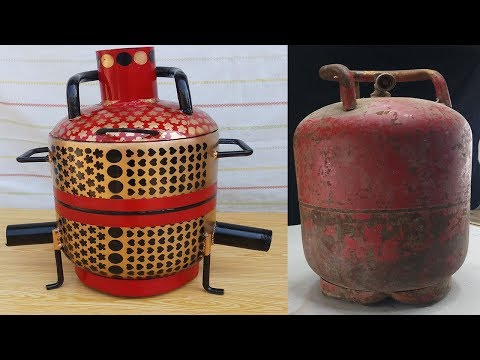 How To Make The MINI Metal Foundry   Using Empty Gas Cylinder