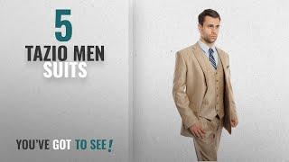 Top 10 Tazio Men Suits [Winter 2018 ]: Men's Solid Two Button Elegant Modern Fit 3 Piece Suit (50L,
