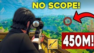 WORLD RECORD FARTHEST NO-SCOPE IN FORTNITE! (Epic Fortnite Moments)