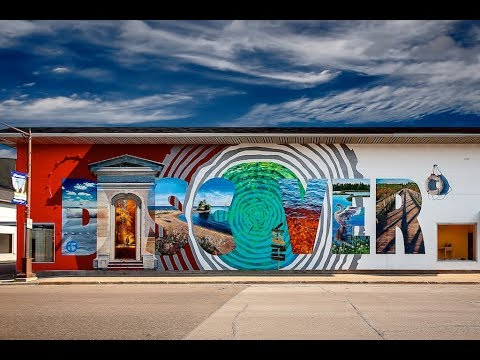 The Discover Mural: Manistique Michigan