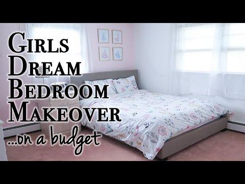 DIY Girls Bedroom Makeover on a Budget & a DIY Fail