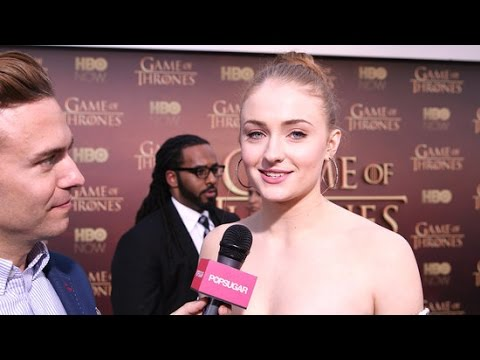 Sophie Turner Interview at the Game of Thrones Season 5 SF Premiere