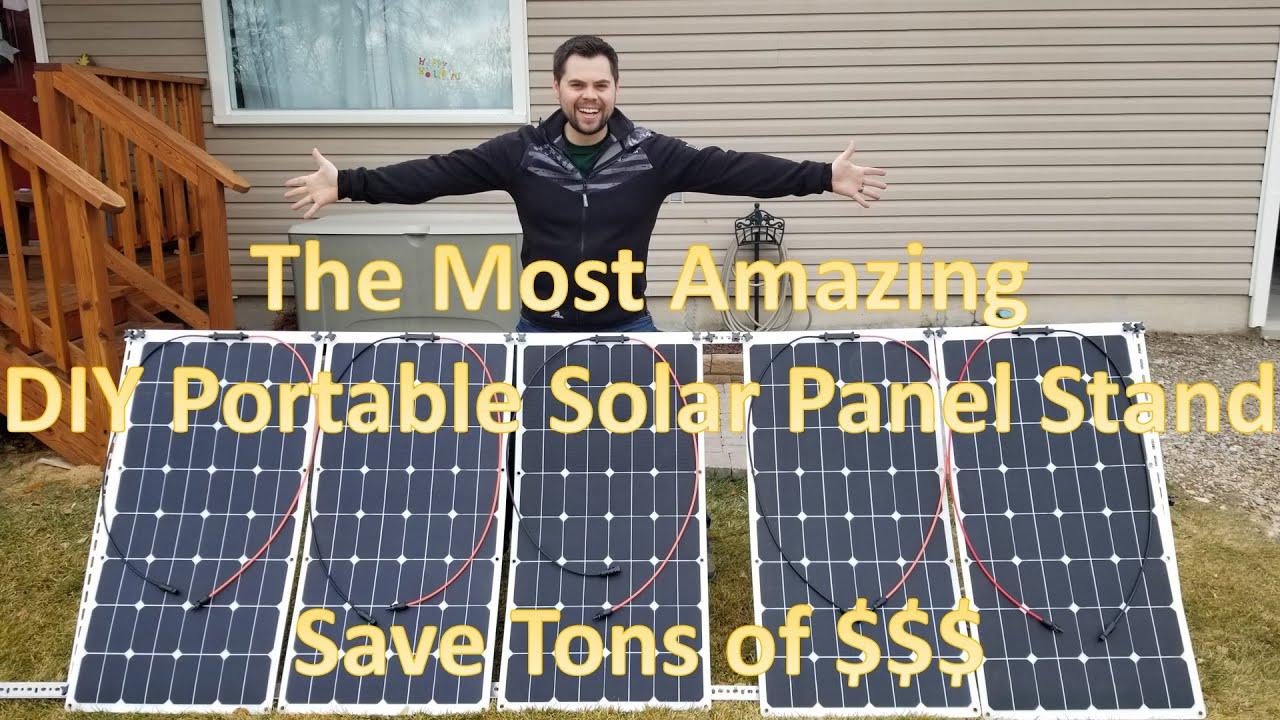 Adjule Portable Diy Solar Panel Stand Affordable Mounting Frames