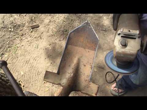 Making a metal detecting digging shovel!