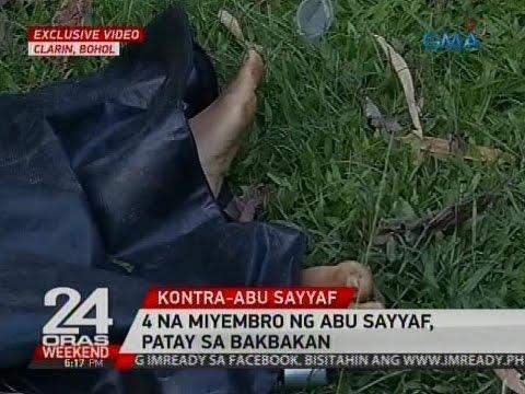 24 Oras: 4 na miyembro ng Abu Sayyaf, patay sa bakbakan