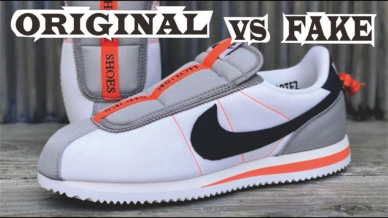competitive price d8590 ba158 Kendrick Lamar x Nike Cortez Basic Slip White Original & Fake