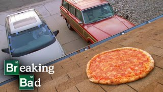 Walter Brings Pizza to the House for Family Dinner - Breaking Bad: S3 E2 Clip