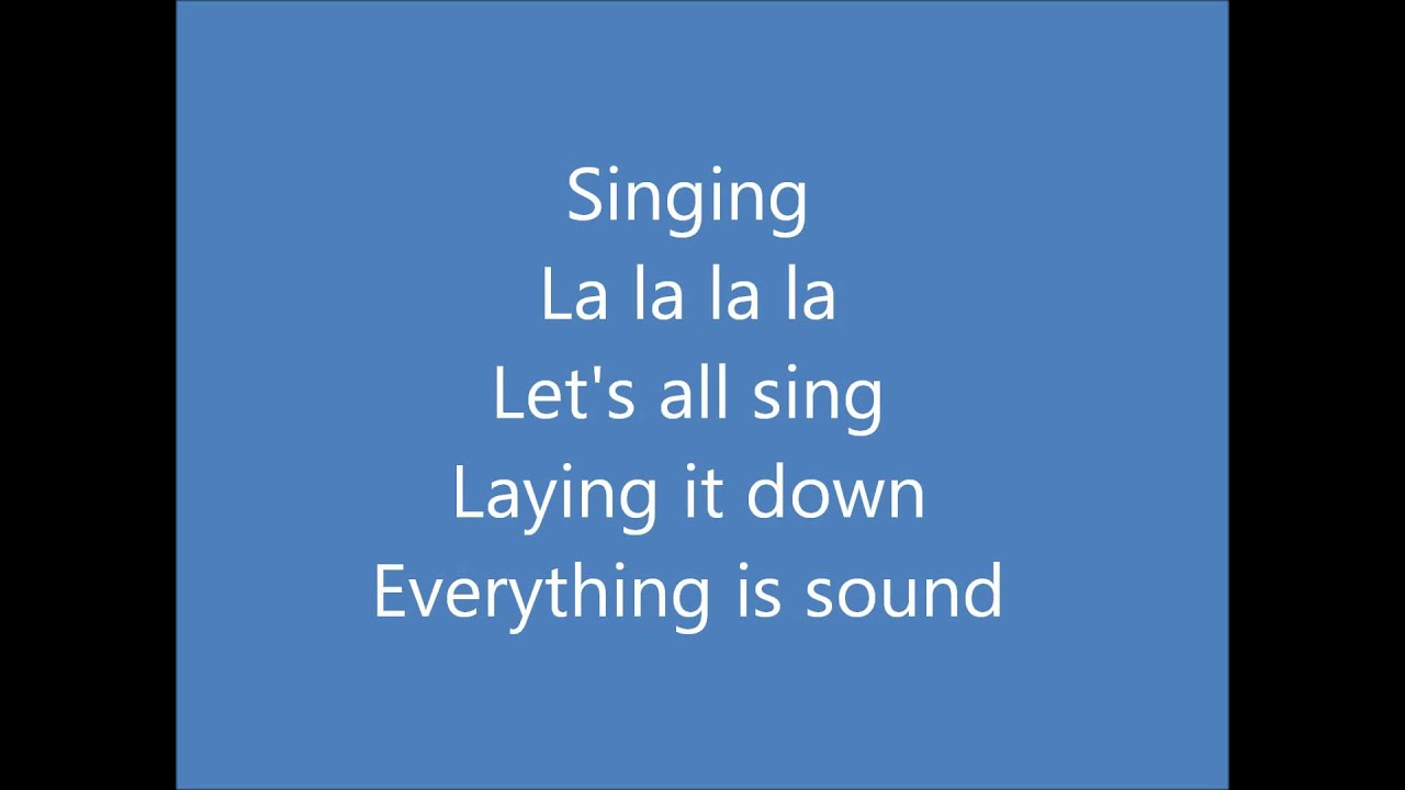 Jason mraz everything is sound [official lyric video] youtube.