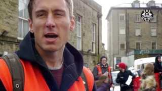 IWW Picket at the Old Courthouse, Buxton