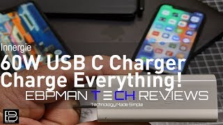 Innergie 60W USB C PD Charger |  Charge Macbook Pro, Google Pixel, Samsung Note 9 and Much more!