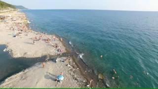 Лазаревское Солоники пляж 4К(полный экран)(, 2016-07-29T18:50:10.000Z)