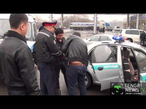 Буйный водитель BMW в Алматы. наркоман задержан )