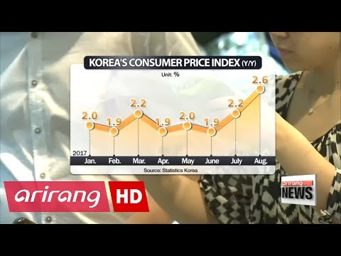 Korea's consumer prices jump 2.6% on-year in Aug., fastest pace in more than 5 years
