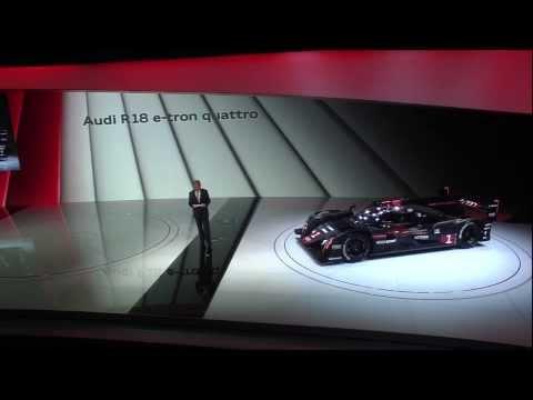 Audi Sport press conference, 2014 Geneva Motor Show