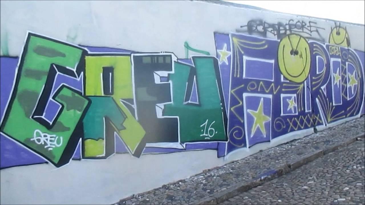 Graffiti vandalism lisbon portugal