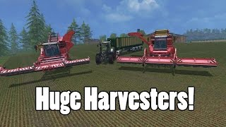 Farming Simulator 15 - HUGE HARVESTERS - Mod Showcase