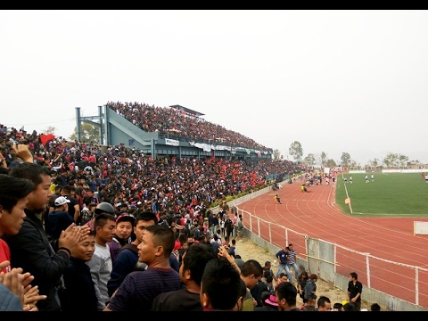 Aizawl FC fans in their match against Kingfisher East Bengal FC