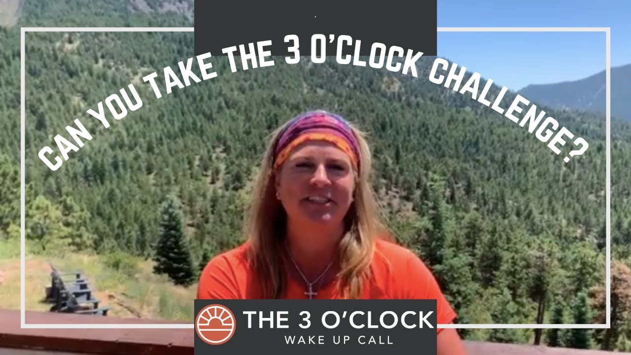 Take The 3 O'Clock Challenge!