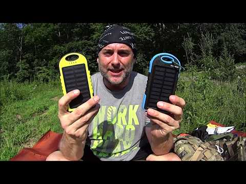 5000mAh weather resistant solar charger power bank field use review.