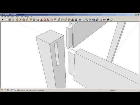 Sketchup: Mortise and tenon joinery