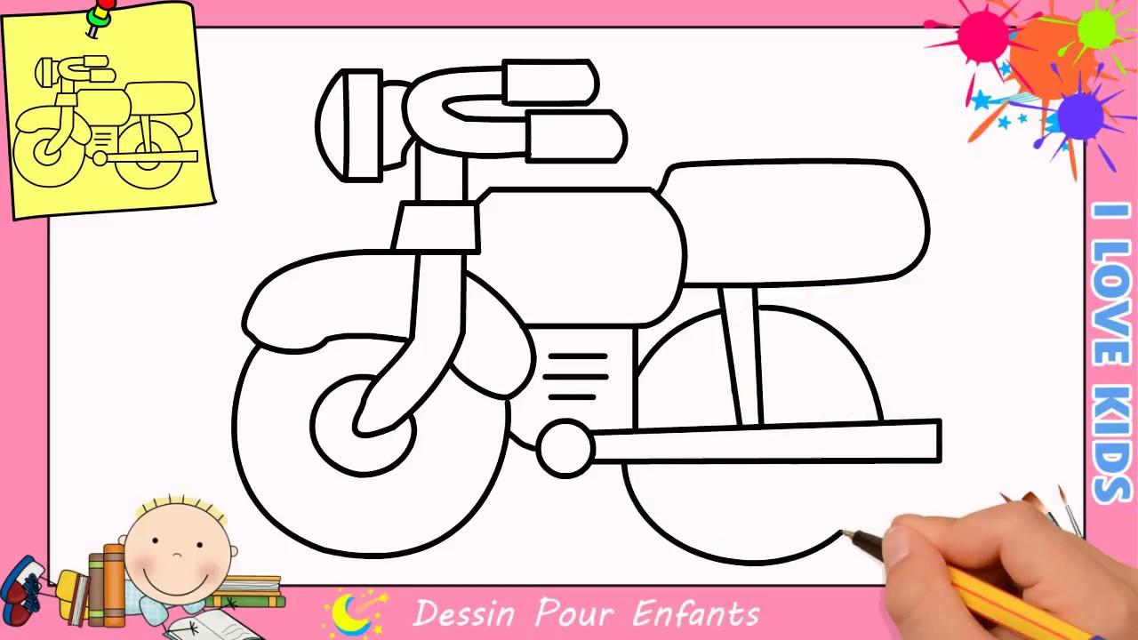 Comment Dessiner Une Moto Facilement Etape Par Etape Pour Enfants 3