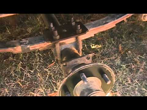 trailer axle is fixed