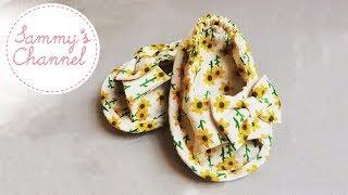 DIY - Sewing Sunflower Baby Sandal For Girls Tutorial | Hướng dẫn khâu sandal hướng dương cho bé gái