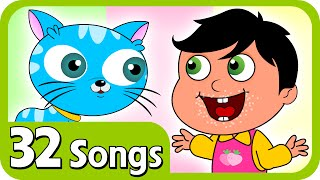 kids nursery rhymes johny johny yes papa and plus lot more nursery rhymes   32 songs compilation for kids children